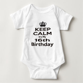 Keep Calm It's My 16th Birthday Shirt