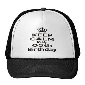 Keep Calm It's My 5th Birthday Trucker Hat