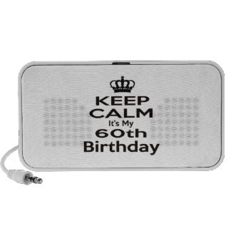 Keep Calm It's My 60th Birthday Travelling Speaker