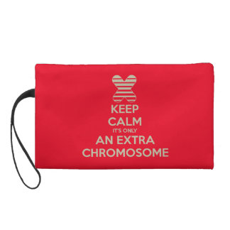 Keep calm it's only an extra chromosome wristlet