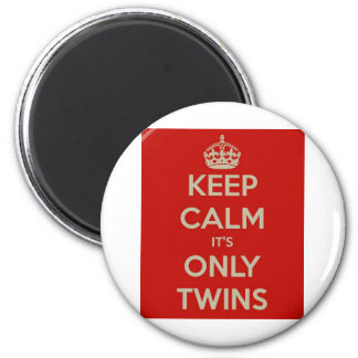 Keep Calm It's Only Twins 6 Cm Round Magnet