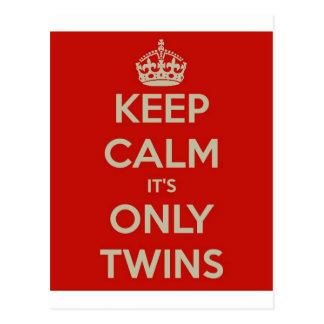 Keep Calm It's Only Twins Postcard
