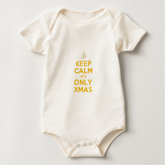KEEP CALM its ONLY XMAS Baby Bodysuit