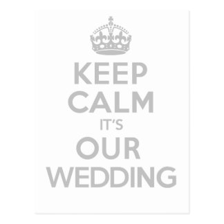 KEEP CALM its OUR WEDDING Postcard