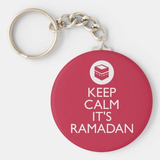 keep calm its ramadan key ring