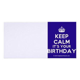 Keep Calm It's Your Birthday Customised Photo Card
