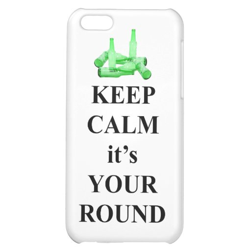 Keep calm it's your round iPhone 5C cover