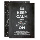 Keep Calm & Jingle On Rustic Holiday Party Invite