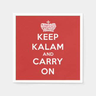 Keep Calm / Kalam Apologetics Party Paper Napkins