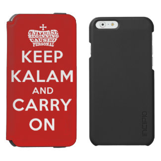 Keep Calm / Kalam iPhone 6 Wallet Case Incipio Watson™ iPhone 6 Wallet Case