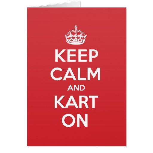 Keep Calm Kart Greeting Note Card