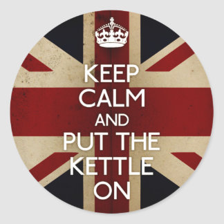 Keep Calm kettle on Stickers