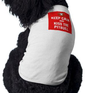 Keep Calm & Kiss the Pitbull Doggie Tshirt