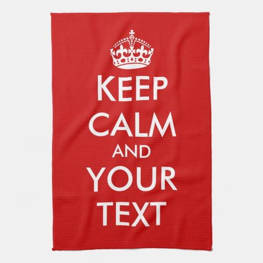Keep calm kitchen towel | Customisable template