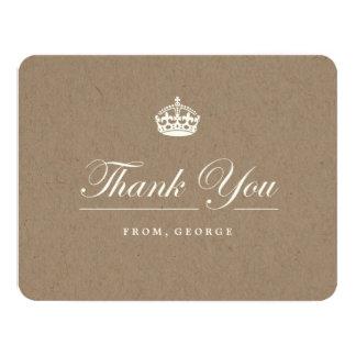 Keep Calm Kraft Birthday Party Thank You Card 11 Cm X 14 Cm Invitation Card