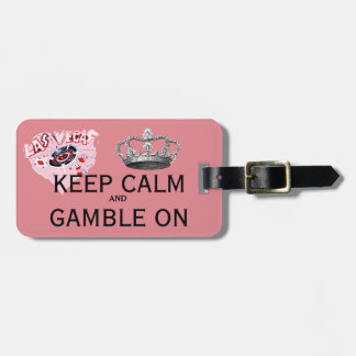 Keep Calm Las Vegas pink Luggage Tag