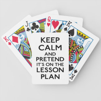 Keep Calm Lesson Plan Bicycle Playing Cards