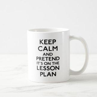 Keep Calm Lesson Plan Classic White Coffee Mug
