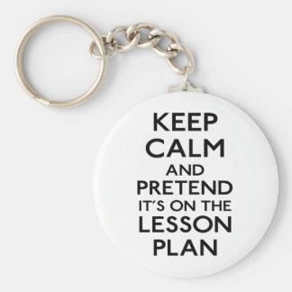 Keep Calm Lesson Plan Key Ring
