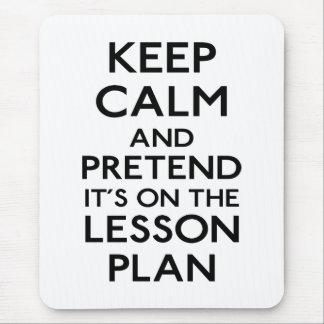 Keep Calm Lesson Plan Mouse Mat