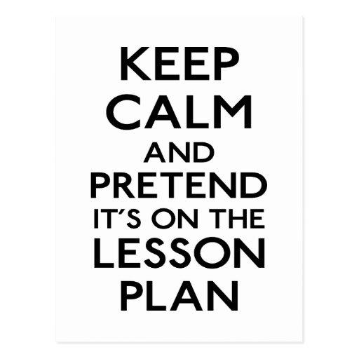 Keep Calm Lesson Plan Post Card
