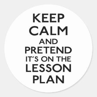Keep Calm Lesson Plan Sticker