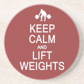 Keep Calm & Lift Weights custom color coaster