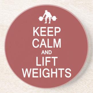 Keep Calm & Lift Weights custom color coaster