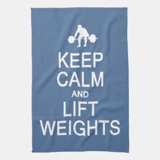 Keep Calm & Lift Weights custom color towel