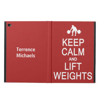 Keep Calm & Lift Weights custom name & color cases