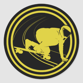 Keep Calm & Longboard On Sticker