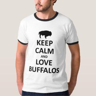 keep calm love buffalos T-Shirt