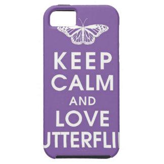 Keep Calm Love Butterflies iPhone 5 Cases