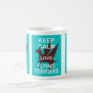 Keep Calm Love Flying Terriers Original Fun Print Mugs
