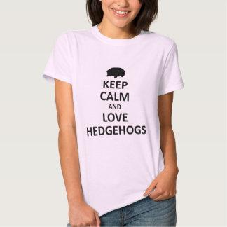 Keep calm love hedgehogs tee shirts