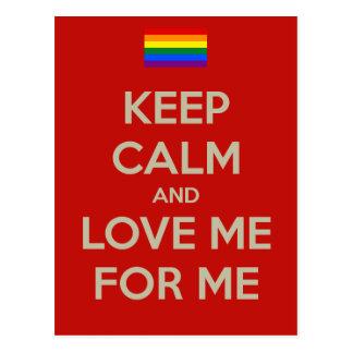 keep calm love me postcard