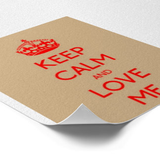 Keep Calm Love ME Value Poster Paper (Matte)