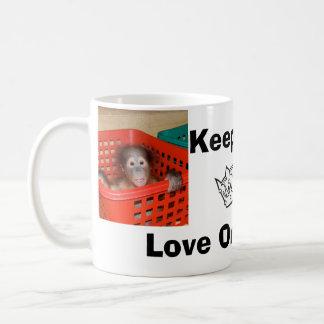 Keep Calm Love Orangutans Basic White Mug