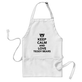 Keep calm love Teddy Bears Apron