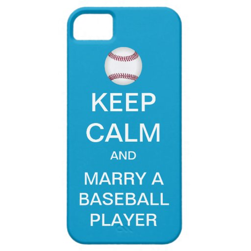 KEEP CALM Marry A Baseball Player iPhone 5 Case