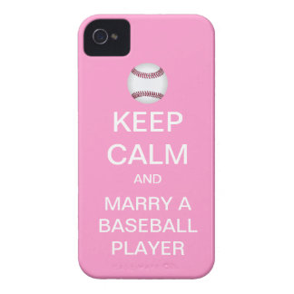 KEEP CALM Marry A Baseball Player iPhone Case