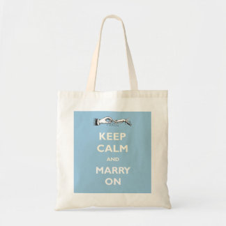 Keep Calm Marry On Tote Bag