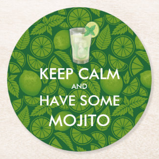 Keep Calm - Mojito Round Paper Coaster