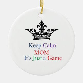 Keep Calm Mom Christmas Ornament