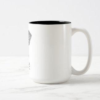 Keep Calm Mosaic Artist Two-Tone Coffee Mug