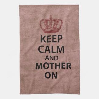 Keep Calm & Mother On Tea Towel