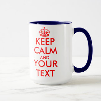Keep calm mug template