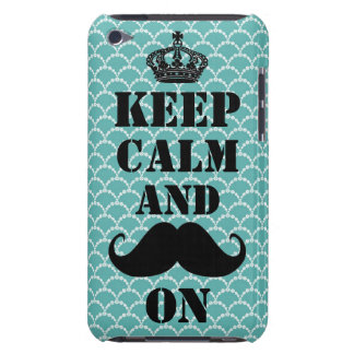 Keep Calm Mustache On Barely There iPod Cases