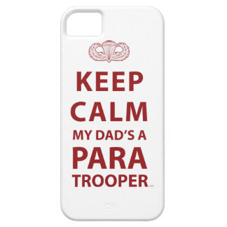 KEEP CALM MY DAD S A PARATROOPER iPhone 5 CASE