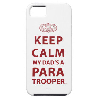 KEEP CALM MY DAD'S  A PARATROOPER iPhone 5 CASES